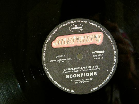 disque Collector face B SCORPIONS