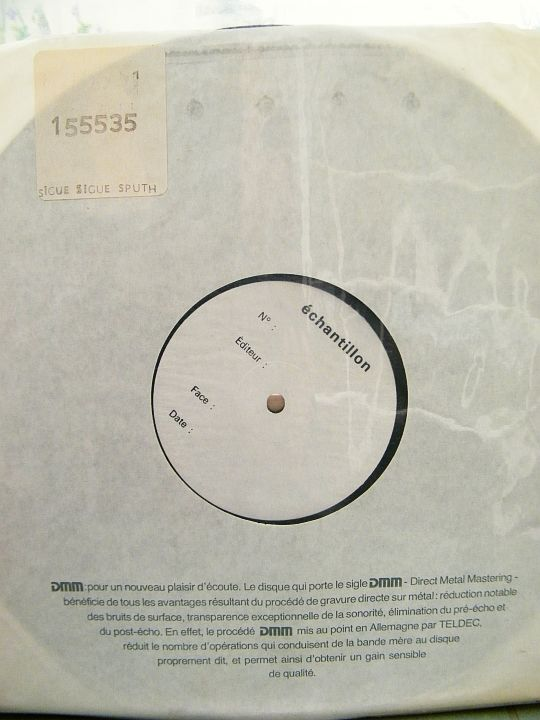 White Label du 33 tours test pressing de Sigue Sigue Sputnick - Flaunt it