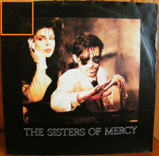 recto du 45 tours promo 3 titres des SISTERS OF MERCY - Dominion