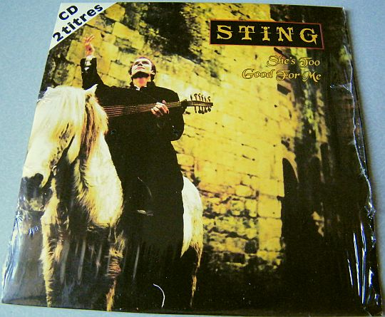 recto du CD single collector de Sting - She's too good for me