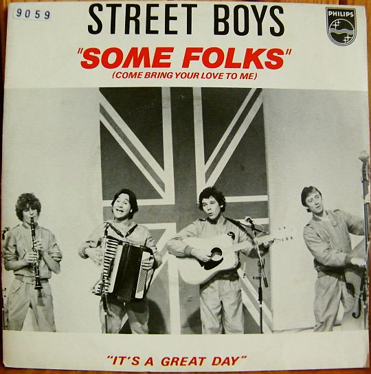 recto du 45 tours Collector promo des STREET BOYS - Some folks