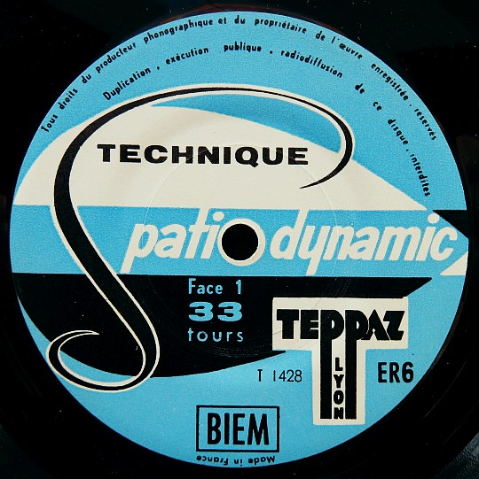 face A du disque promo Teppaz - Technique spatio-dynamic