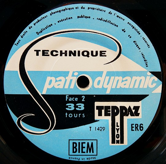mini 33 tours Collector de la Technique spatio-dynamic TEPPAZ, label central face B dans POESIE-SONORE.COM