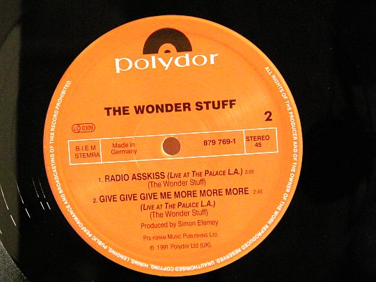 face B The Wonder Stuff Collector