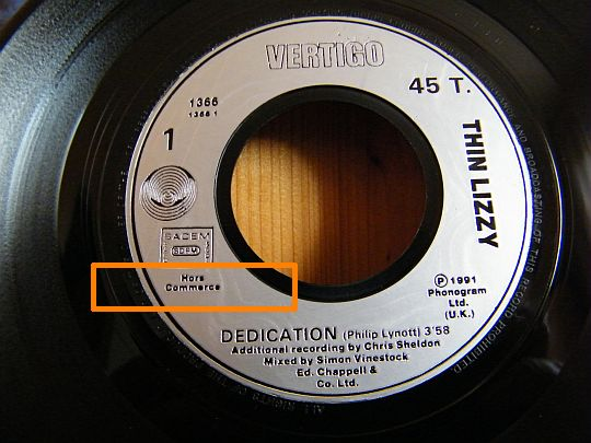 Thin Lizzy - face 1 Dedication inédit Collector dans POESIE-SONORE.COM