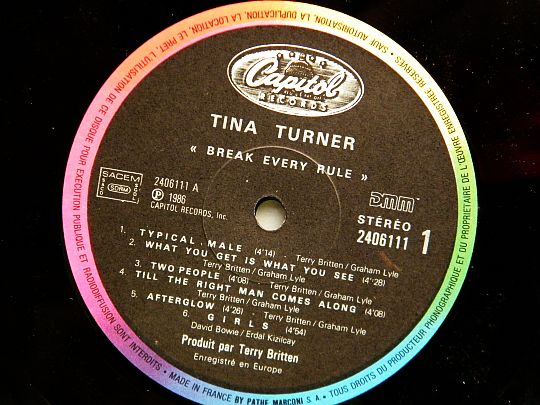 face 1 Tina Turner - Break every rule Collector