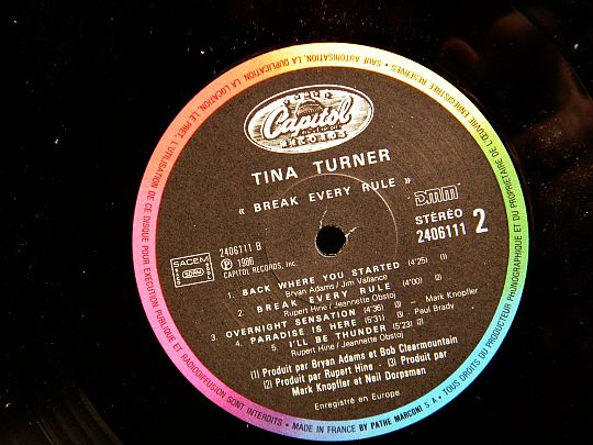 face 2 Tina Turner - Break every rule Collector