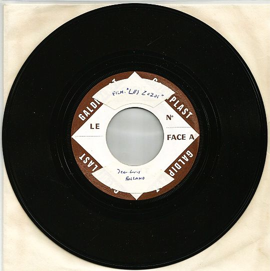 face A du SP Collector Test Pressing Galdiplast de Jean-Louis Rolland - La jeunesse est finie