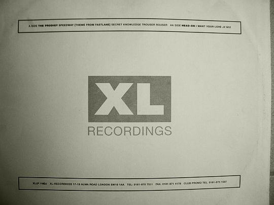 verso du maxi 33 tours sampler XL RECORDINGS